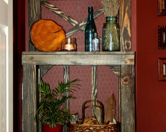 Rustic Bathroom Display Rack