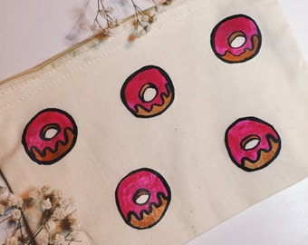 Donut Print Make Up Bag