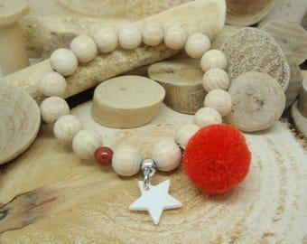 """Le bracelet """"Cosy"""" rouge"""
