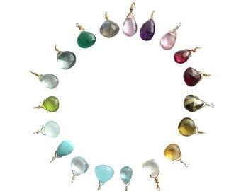 Tiny Gemstone • Charm Only • Gemstone drop • Add on Gem • Small Gemstone Accent • Single Stone Pendant • Just the Gem