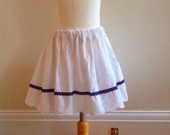 Girls skirt, recycled, vintage, children's  clothing, up cycled ,retro