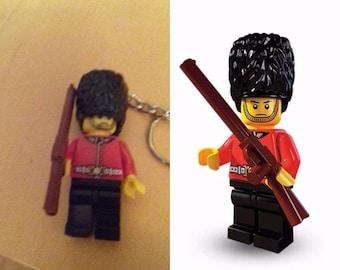 NEW Custom Queen's Royal Guard Minifigure Mini Figure or Minifigure Keyring Fits Lego