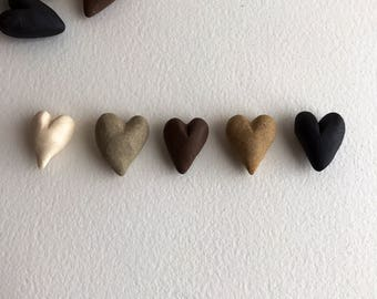 hand-made ceramic hearts - you pick - bag of 12