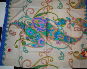 Vintage Polished Cotton Curtain Panel