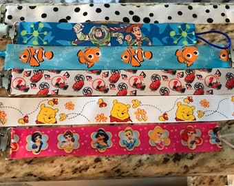 Disney Inspired Pacifier Clips