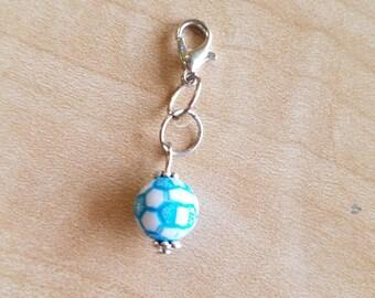 8 Pieces - Soccer Ball Zipper Pulls