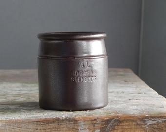 Scandinavian Vintage Höganäs Keramik Stoneware dark brown Matte Jar 1/6 L Pot Pottery by Stengods Sweden Scandinavian Design