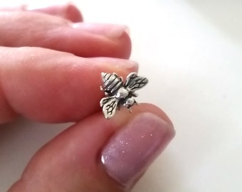 Honey Bee Stud Earrings • Bee Jewelry • Bumble Bee Studs • Nature Lover •  Bee Keeper • Bee Earrings