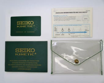 SEIKO Kinetic Guarantee & Instruction with Blank Warranty Card