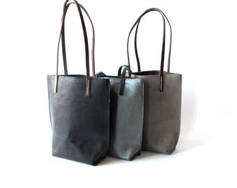 Women's hand made leather tote bag sholder tote purse commuter bag amy kreiling bag summer accessories