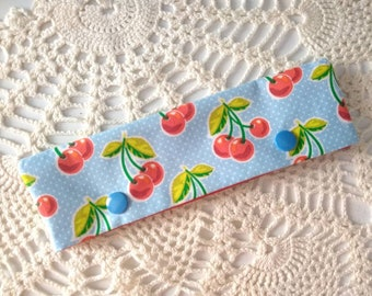 "Retro Cherries DPN Cozy for 6-7"" Knitting Needles!"