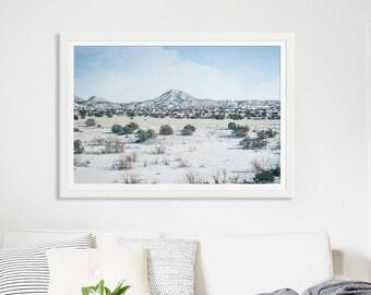 "New Mexico Desert Landscape // Fine Art Print // Nature Photography // Large Living Room Art Modern - ""New Mexico Winter"""