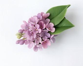Lilac hair clip, lilac flower hair clip purple flower head piece lilac hair barrette rustic wedding child hair clip nature inspired hairpece