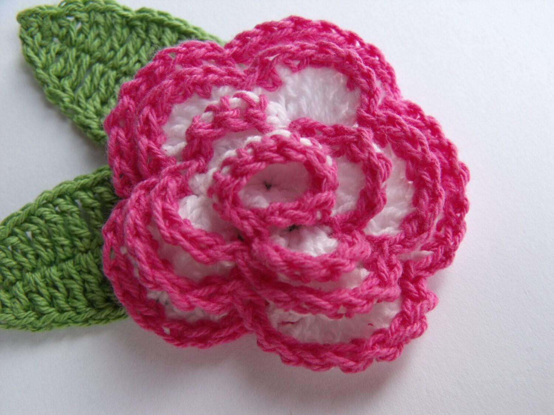 Gehäkelte Rosen 4pk häkeln Blumen geschichteten rosa und
