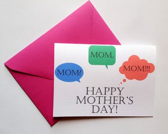 Happy Mother's Day! - Mother's Day Single Thank You Card with Matching Envelope