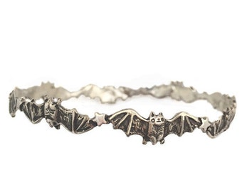 Bat Bracelet      stars bangle silver gold jewelry