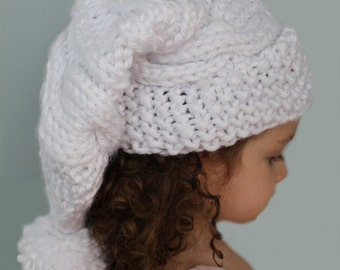 KNITTING PATTERN- Cable Knit Stocking Hat (child- adult sizes) PDF