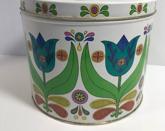 Vintage Bisquick Recipe Tin Collectible Storage Canister