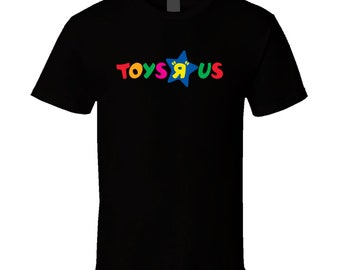 Toys R Us Retro Kids Store Logo Black T Shirt