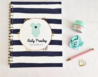 Custom Pregnancy journal, expecting mom gift, pregnancy planner, pregnancy keepsake, pregnancy book, pregnancy tracker, mom to be gift