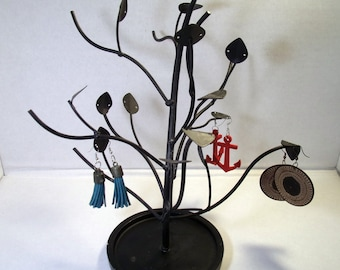 Black Tree Earring Holder