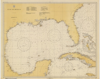 Gulf of Mexico Historical Map 1931