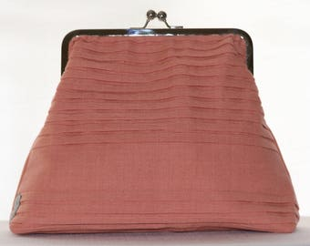 Clutch - Coral Pleats