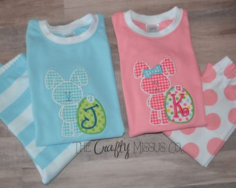 Easter Pajama Duo-Matching Easter Pajamas-Brother/Sister pajamas-Easter Pajamas for Kids-Matching Easter PJs-Family Easter Pajamas