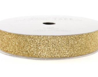"Glitter Tape Brown Sugar - 5/8"" x 3 yds - 100% Archival"