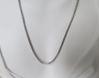 Sterling silver necklace chain  for men or women, 18 inches