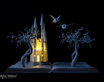 MADE TO ORDER - Harry Potter Book Sculpture - Book Art - Altered Book