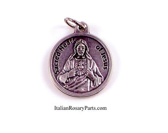 Sacred Heart of Jesus Religious Medal | Italian Rosary Parts