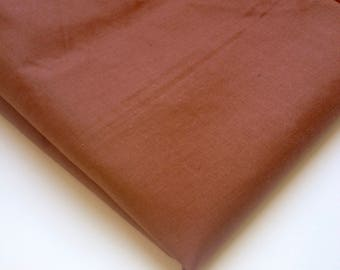 DARK BROWN COTTON fabric, natural fabric, summer wear, lightweight fabric, for shirts, dresses and tops, quilting