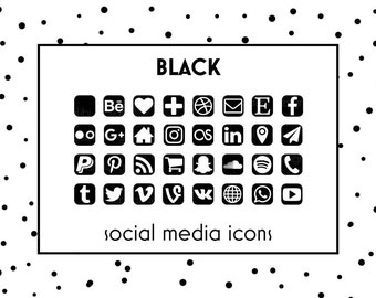 social media icons black icons black button social icons website icons - Free Resume Icons