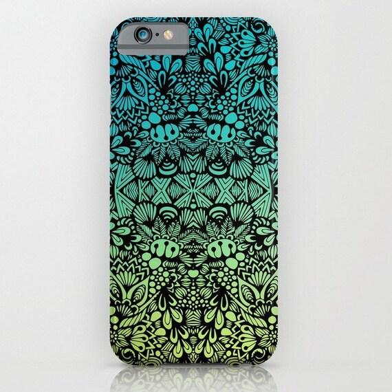 Zentangle - Teal Phone Case
