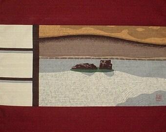 Japanese Art Masao Ido 'Ryoanji' Furoshiki Japanese Fabric Cotton 48cm w/Free Insured Shipping