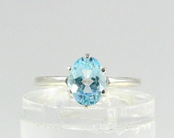 Topaz ring, Sky Blue Topaz ring, Blue Topaz gemstone ring, 925 sterling silver, engagement ring, wedding gift, gift for you