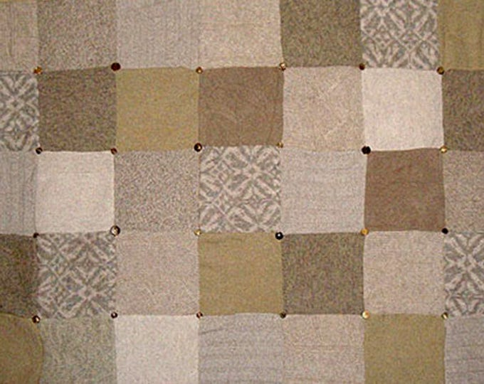 """My """"Desert Camel"""" Wool Sweater Quilt — I can make one similar for you!"""