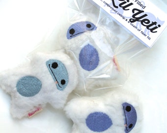 Catnip Yeti | Unique Cat Toy | Abominable Snowman | Fur Cat Toy | Catnip Toy | Catnip Pellets | Winter |  Plush Cat Toy | Cat Lady Gift