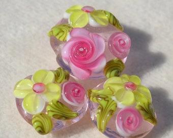 Artisan Lamp Work Beads- Lot 374