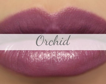"Vegan Purple Lipstick Sample - ""Orchid"" plum all natural mineral makeup"