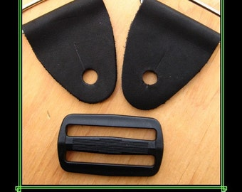 Guitar Strap Kit , Do-It-Yourself, Leather End Tabs for Guitarstrap, Replacement Ends for Guitarstrap