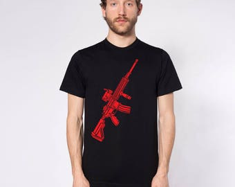 KillerBeeMoto: Limited Release 416 Assault Rifle Print On Short Or Long Sleeve T-Shirt