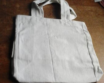 White brushed denim bag