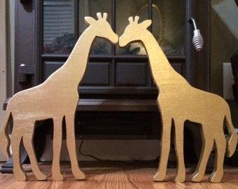 Kissing Giraffes