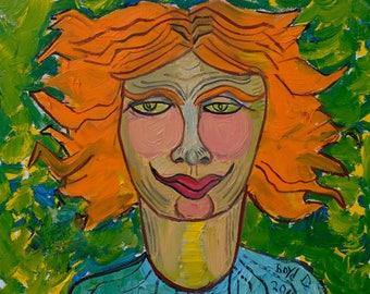 Fire Girl (original) | Folk Art