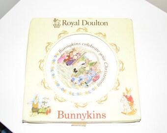 Royal Doulton Bunnykins Christening Plate