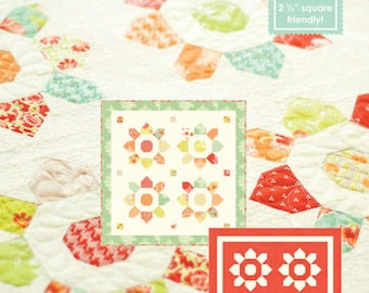 Fig Tree Quilts Mini Blossom Quilt Pattern Charm Square Friendly Quilt  FT 994