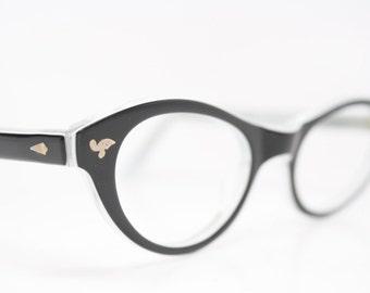 Black Catseye glasses vintage glasses frames cat eye sunglasses