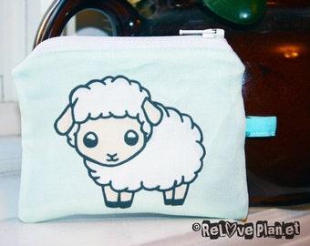 Cute Sheep Mini Coin Purse Zipper Pouch - Kawaii sheep - Wallet - ReLove Plan.et